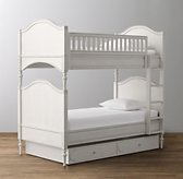Bellina Twin-Over-Twin Arched Panel Bunk Bed
