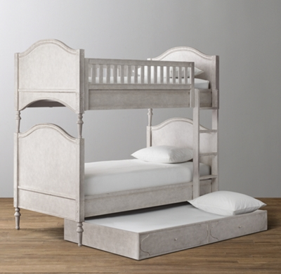 Bellina Twin Over Twin Arched Panel Bunk Bed