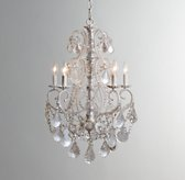Aislynn Mercury Glass 5-Arm Chandelier White