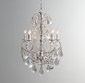 Aislynn Mercury Glass 5-Arm Chandelier - White