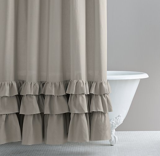 Frayed Ruffle Shower Curtain. Click To Zoom