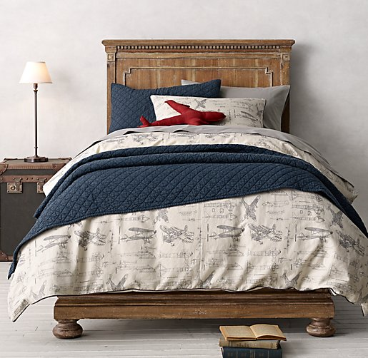 Vintage Airplane Blueprint Duvet Amp Vintage Washed Percale