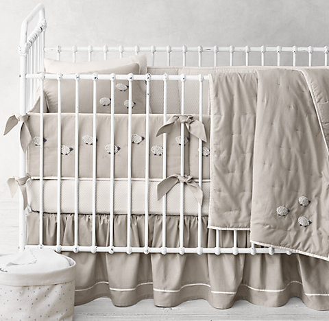 Hand Knotted Sheep Nursery Bedding Collection