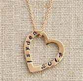 Personalized Small Bronze Stacking Heart