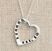 Personalized Small Sterling Silver Stacking Heart