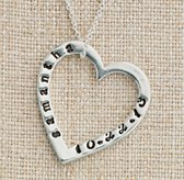 Personalized Large Sterling Silver Stacking Heart