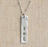 Personalized Eclectic Necklace Sterling Silver Tag