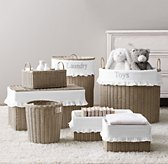 Rutherford Ruffled Cotton Storage Liners