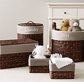 Seagrass Textured Cotton Storage Liners