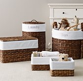 Seagrass Bordered Cotton Storage Liners