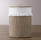 Rutherford Ruffled Cotton Hamper Liner