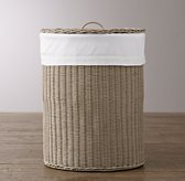 Rutherford Bordered Cotton Hamper Liner