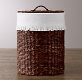 Seagrass Ruffled Cotton Hamper Liner