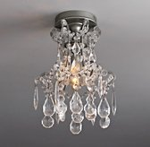 Manor Court Crystal Flushmount Aged Pewter