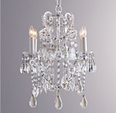 Manor Court Crystal 4-arm Chandelier Vintage White