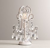 Mini Manor Court Crystal Lamp Vintage White