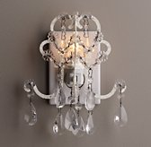 Manor Court Crystal Nightlight Vintage White
