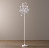 Manor Court Crystal 4-arm Floor Lamp Vintage White