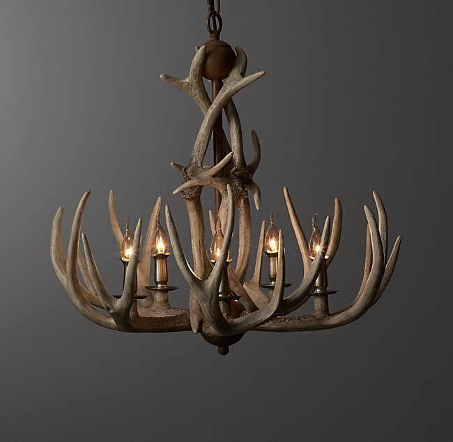 Adirondack Antler Chandelier Sunbleached Color Preview Unavailable