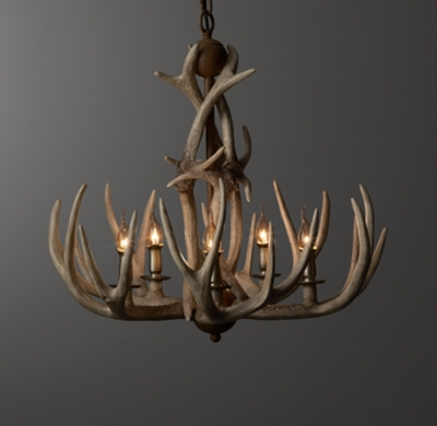 Adirondack antler chandelier sunbleached click to zoom aloadofball Image collections