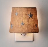 Embroidered Star Nightlight - Natural