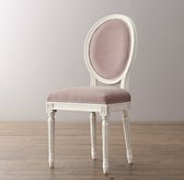 Mini Vintage French Velvet Chair - Aged White