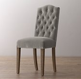 Tufted Camelback Velvet Desk Chair - Burnt Oak