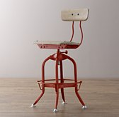 Mini Vintage Toledo Stool - Distressed Red
