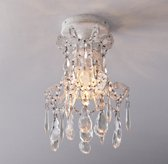 Manor Court Crystal Flushmount - Vintage White