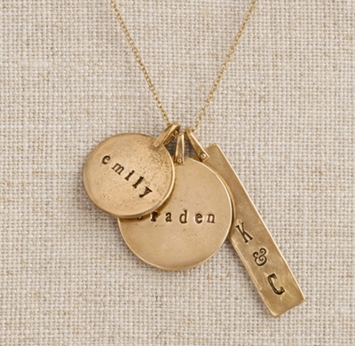 Personalized bronze charm necklace aloadofball Image collections