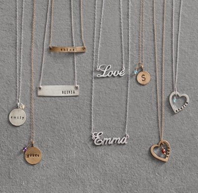 Personalized Nameplate Necklace Sterling Silver