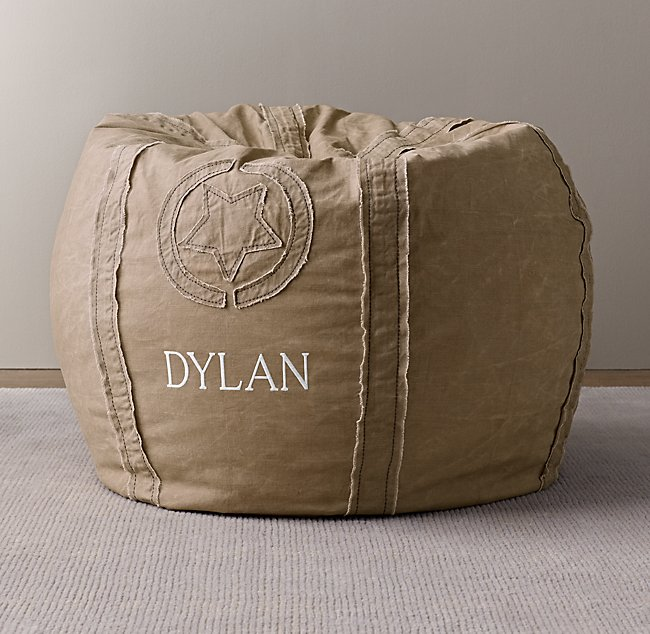 Stupendous Distressed Canvas Bean Bag Cover Natural Dailytribune Chair Design For Home Dailytribuneorg