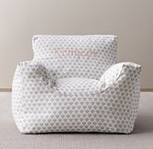 Printed Canvas Bean Bag Chair Cover - Grey Paisley