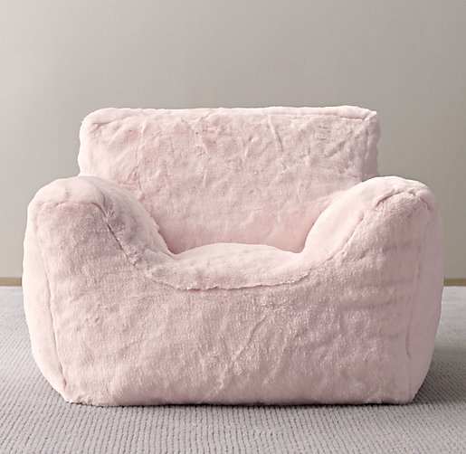 Luxe Faux Fur Bean Bag Chair