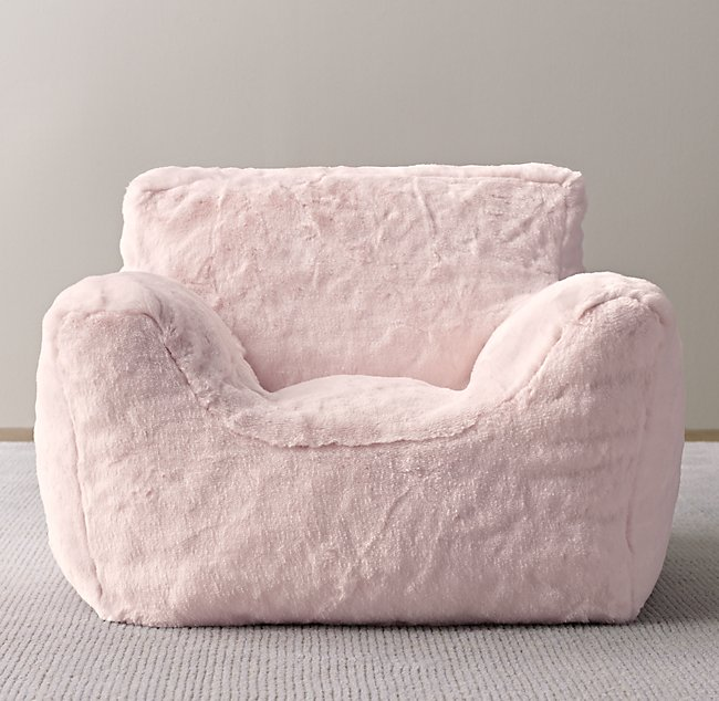 Astounding Luxe Faux Fur Bean Bag Chair Petal Gmtry Best Dining Table And Chair Ideas Images Gmtryco