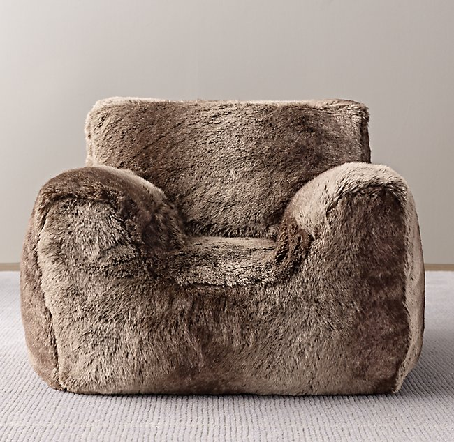 Luxe Faux Fur Bean Bag Chair Cover