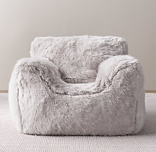 Free Shipping Luxe Faux Fur Bean Bag Chair