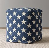 Liberty Star Pouf - Denim