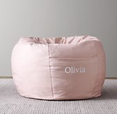 Printed Canvas Bean Bag Cover - Pink