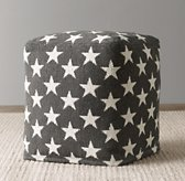 Liberty Star Pouf - Charcoal
