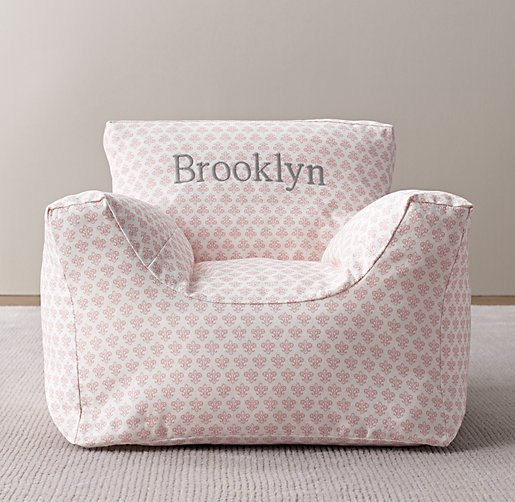 Printed Canvas Bean Bag Chair Cover
