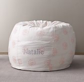 Printed Canvas Bean Bag Cover - Pink Dandelion