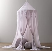 Cotton Voile Play Canopy - Lilac