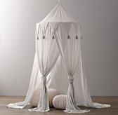 Cotton Voile Play Canopy - Grey
