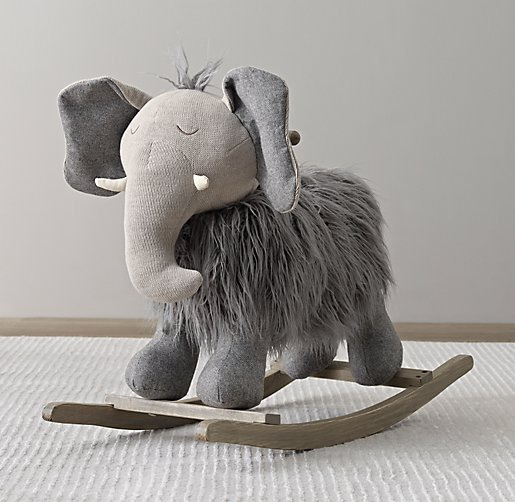 wooly plush animal rocker