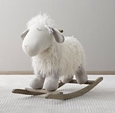 Wooly Plush Rocking Animal - Lamb