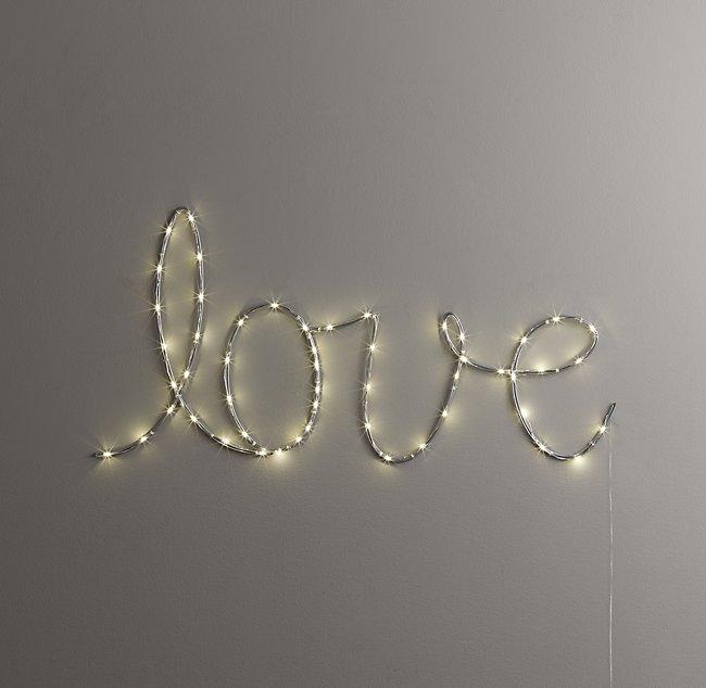 Starry Light Wall Decor Love
