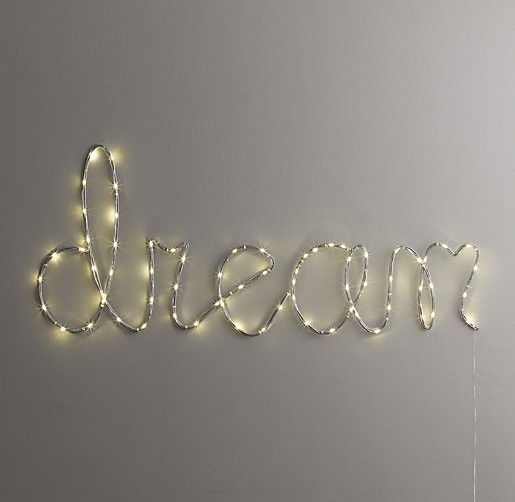 "Dream Wall Decor starry light wall décor - ""dream"""