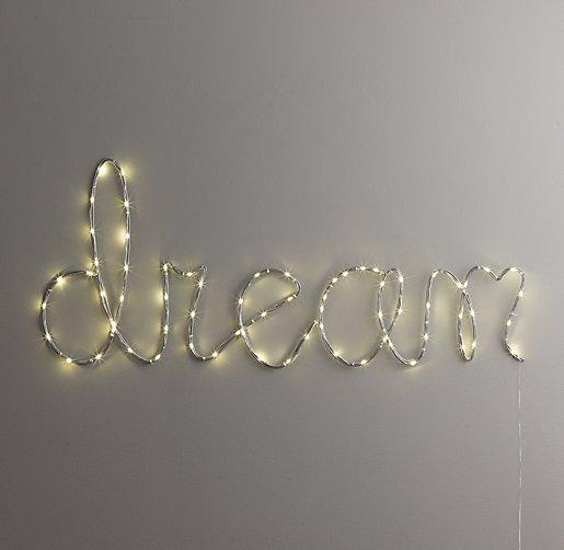"""Starry Light Wall Décor - """"Dream"""""""
