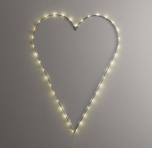 Starry Light Wall Décor - Heart